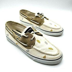 Sperry Top Sider Mens Boat Shoes Ivory Seashells